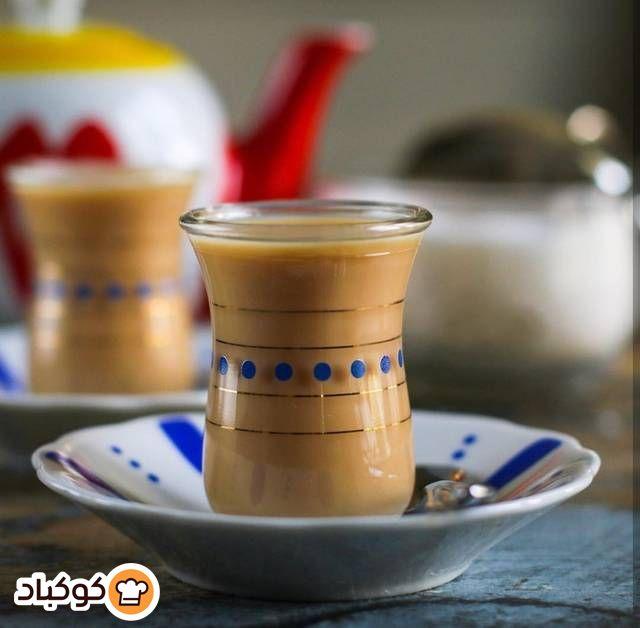 شاي كرك بالصور من Reem Abu Mailesh Recipe Tableware Glassware
