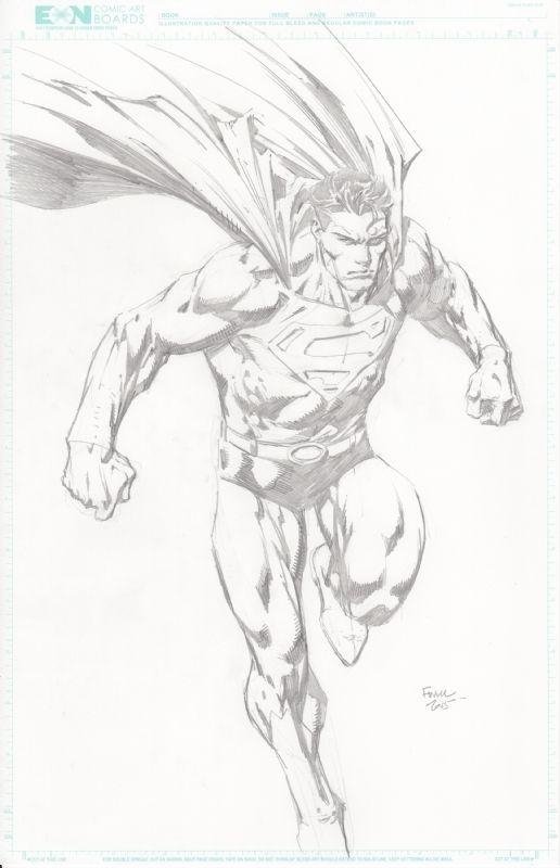 Superman sketch by David Finch