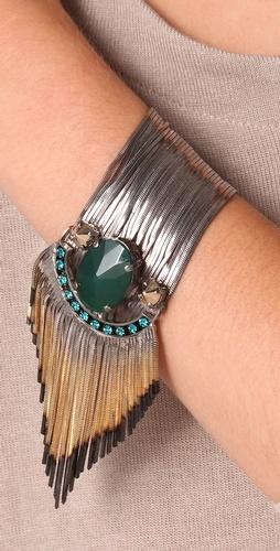 Iosselliani  Shaded Fringe Agate Bracelet