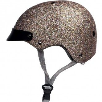 Multi coloured glitter bicycle helmet! Sawako Furuno Ladies Bike Helmet - Sparkle