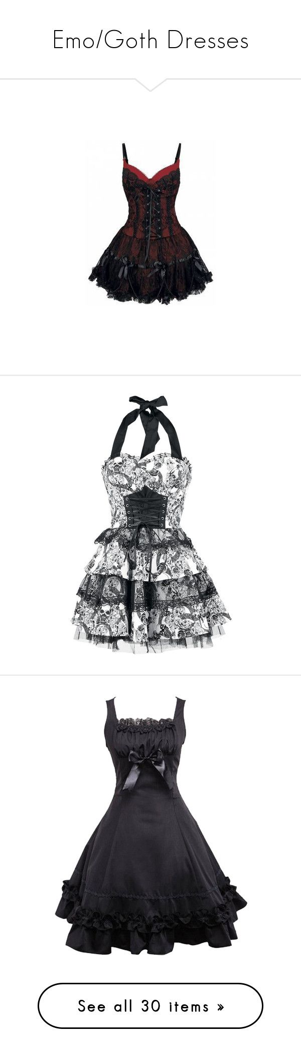 """""""Emo/Goth Dresses"""" by dreadful-glassheart ❤ liked on Polyvore featuring dresses, vestidos, short dresses, corsets, gothic corsets, metal corset, gothic dresses, gothic mini dress, corset cocktail dress and robe"""