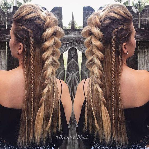 Chunky French Braid – süße, lockere lange Frisur – hab die Haare schön