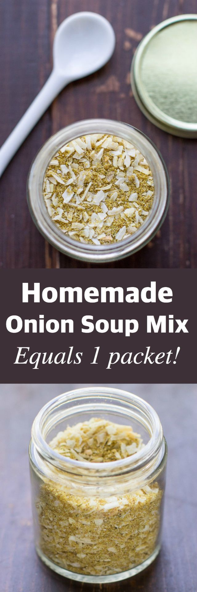 Homemade Onion Soup Mix is perfect for soups, dips, pot roast, and more. This easy recipe makes the equivalent of one packet, just what you need!   Good ol' Onion Soup Mix. It was a frequent guest at
