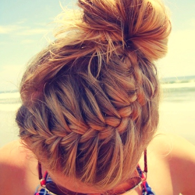 Enjoyable 1000 Ideas About Braided Cheer Hair On Pinterest Cheer Makeup Hairstyle Inspiration Daily Dogsangcom