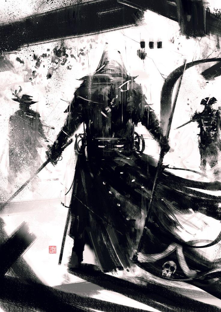"Simon Goinard speedpaint of Edward Kenway from Ubisoft's ""Assassin's Creed 4: Black Flag"""