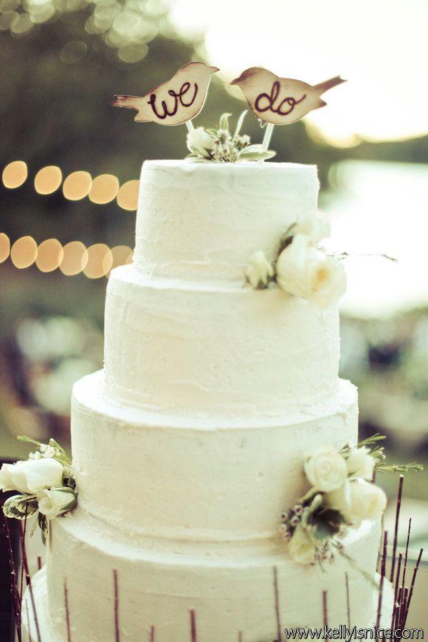 Cake Topper Love Birds Rustic Wedding