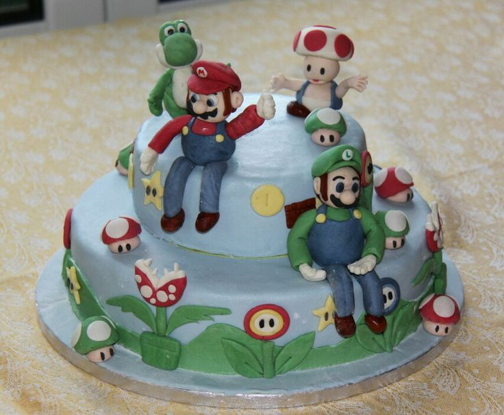 Torta Super Mario Bros by Myele