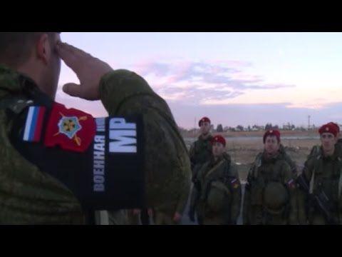 In Aleppo, Syria arrived battalion of the military police of Russia