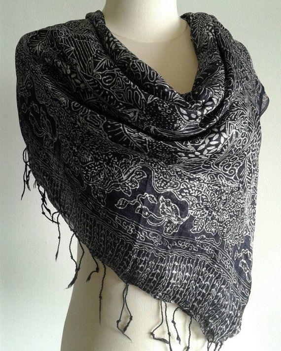 Check out this item in my Etsy shop https://www.etsy.com/listing/258243119/free-shipping-black-and-white-silk-scarf