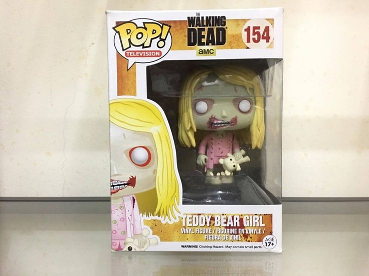 Funko Pop Walking Dead Teddy Bear Girl #154 Vaulted, Retired, NEW IN BOX, RARE