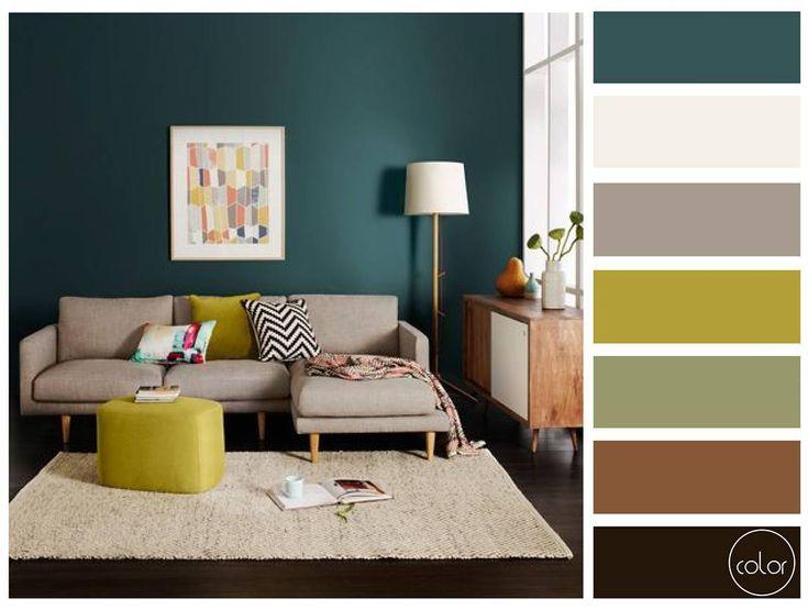 Verde transmite adaptabilidade e conforto. Nessa paleta a cor possui grande destaque valorizando todos os contrastes criados com a mobília. #colorpalett #paletadecor  #interiordesign #interiorcolors #decoration by colorpalett