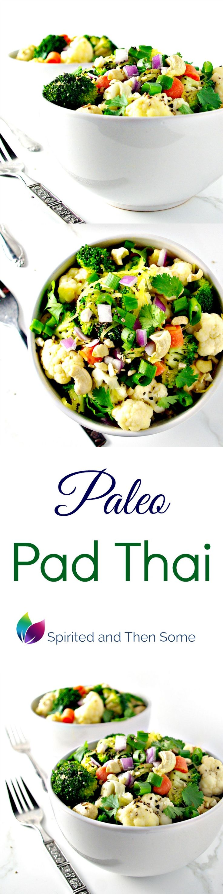 Paleo Pad Thai is a delicious blend of flavors and perfect for date night in! | spiritedandthensome.com