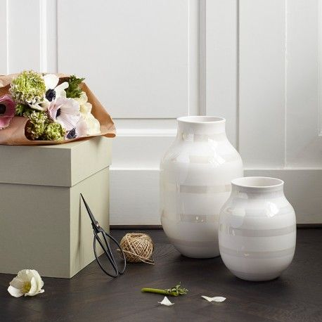 Kähler vase mellem - Perlemor