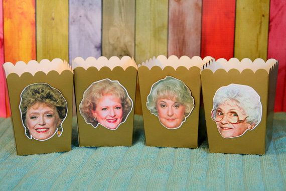 Golden Girls Snack Boxes Favor Boxes Set of 12 by PaperPartyParade