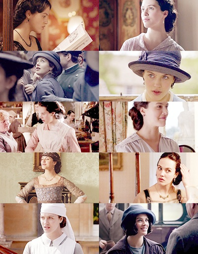 "sybil crawley: ""You have a talent that none of the rest of us have. Just find out what it is and use it. It's doing nothing that's the enemy."""