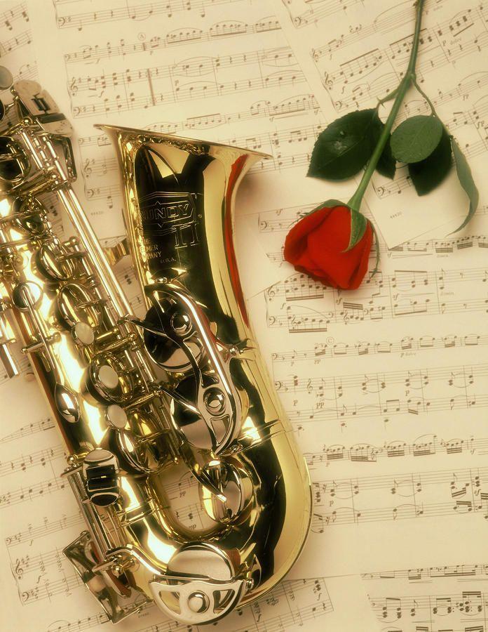 Пятью, саксофон открытки