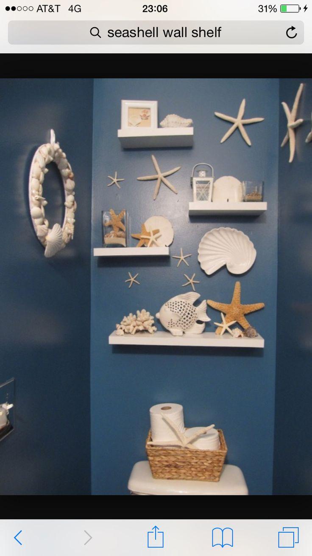 Decor nautical shell mirrors w sea glass starfish amp pearls blue - Seaside Beach Nautical Decorating Ideas