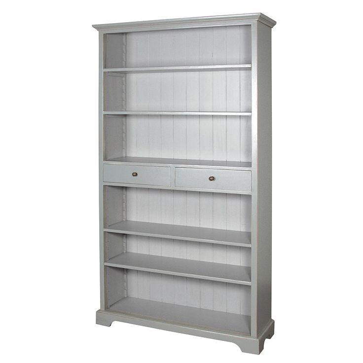Grey Rivau Open Bookcase Furniture - La Maison Chic Luxury Interiors