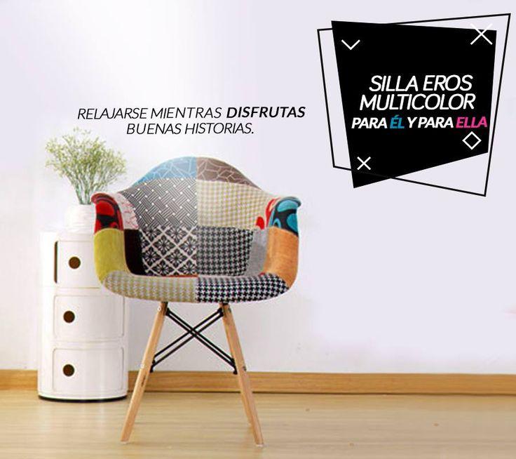 Sabemos que para disfrutar buenas historias necesitas estar cómodo, Nuestra silla Eros Multicolor es la mejor opción para él o ella, Encuéntrala ahora en nuestra tienda en Bogotá en la sede Norte Av.19 #108 - 57.