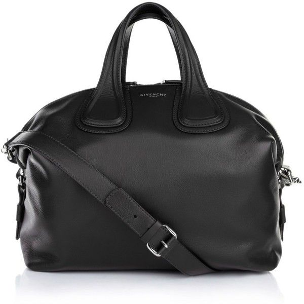 Givenchy Nightingale Medium Tote Black in black, Handle Bags (123.265 RUB) ❤ liked on Polyvore featuring bags, handbags, tote bags, black, zipper tote, genuine leather handbags, leather totes, pattern tote bag and medium leather tote