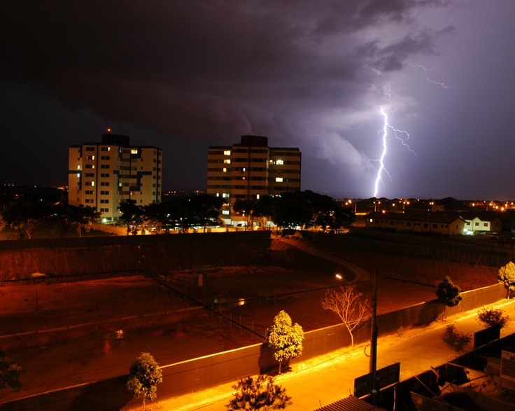 Lightning strike at São José dos Campos, SP, Brazil