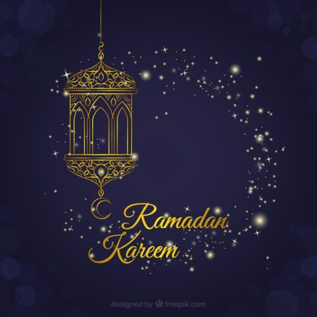 Fondo de ramadán de farol decorativo Vector Gratis