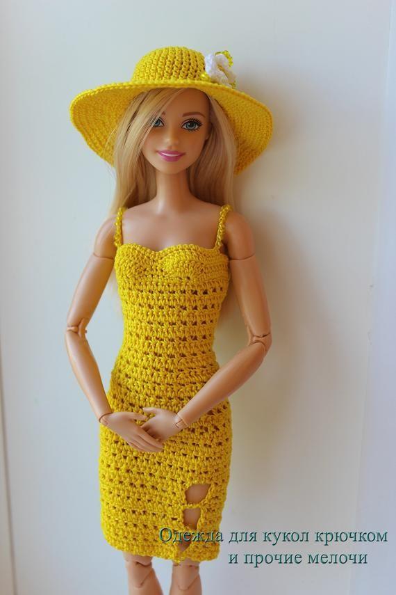 Crochet Barbie dress   Crochet doll clothes, Crochet barbie ...   855x570
