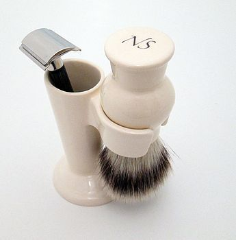 Shave brush and razor stand ivory                                                                                                                                                                                 More
