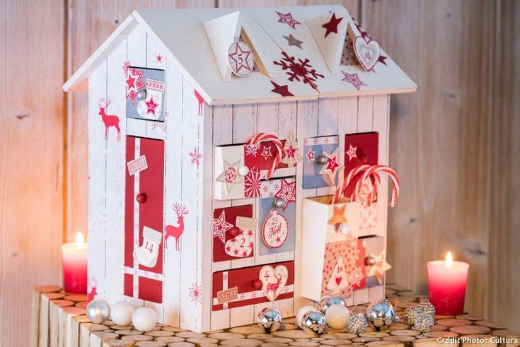 Maison Calendrier de l'Avent. Toutes les astuces pour créer un super calendrier de l'Avent. #calendrierdelavent #adventcalendar #xmas #noel