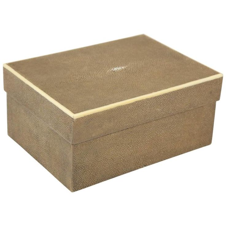 Shagreen Box | From a unique collection of antique and modern decorative-boxes at https://www.1stdibs.com/furniture/decorative-objects/boxes/decorative-boxes/