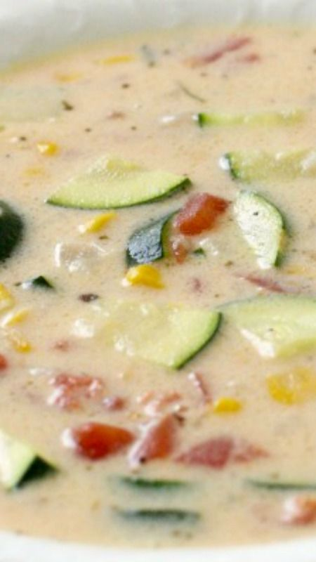 Garden Zucchini Chowder ~ Easy to make and delicious!