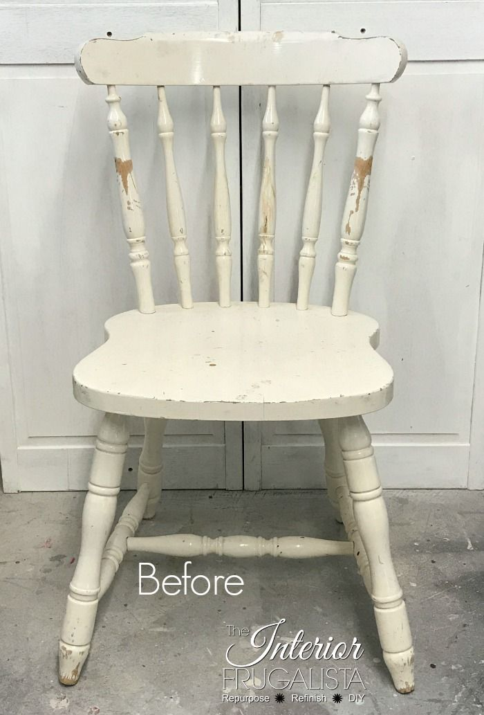 Paint Chair Spindles The Easy Way Without A Sprayer | The Interior  Frugalista