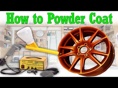 How to Powder Coat at Home in Your Garage DIY - YouTube