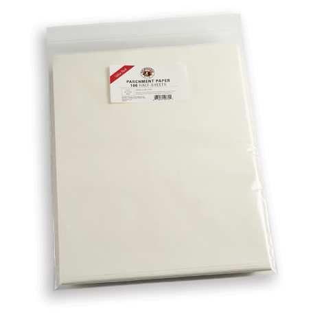 Baking Parchment Paper - Set of 100 Half-Sheets