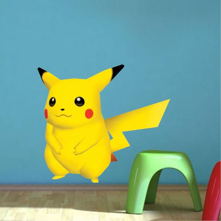 Pikachu Pokemon Kids Bedroom Wall Decal   Pokemon Birthday Party Theme  Decor   Pikachu Stickers