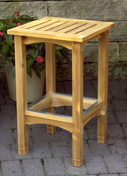 Патио стол и стул Деревообработка план, план проекта Мебель Столовая | деревянный магазин