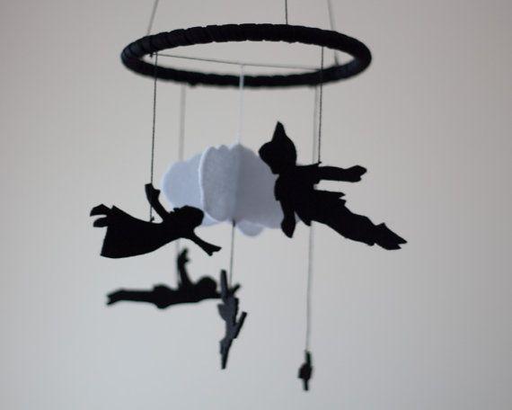 Peter Pan bébé Mobile Mobile de pépinière de par DreamFlakeShop