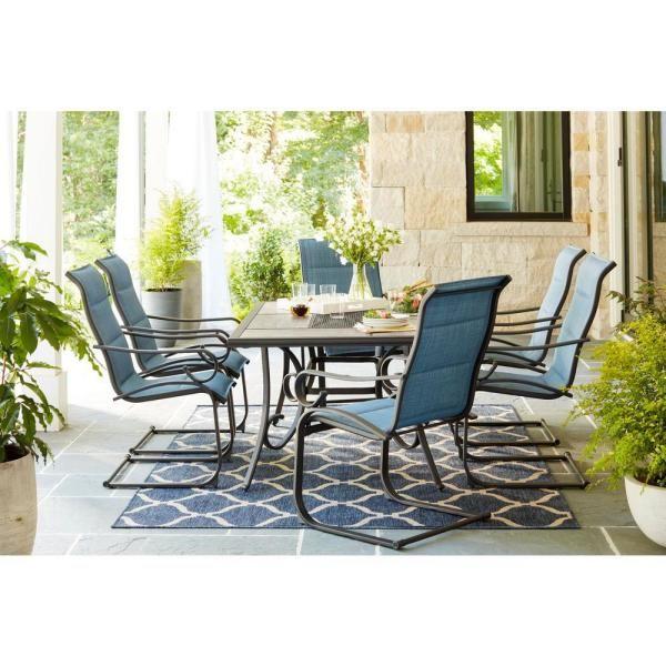 40++ Hampton 7 piece cushioned dining set Trend