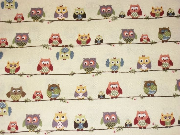 Owl Fabric, By The Yard, Blank Textiles Fabrics, Quilting Crafting Sewing Fabric, Cotton Fabric, Novelty Fabric, Whimsical Fabric by NeedlesnPinsStichery on Etsy