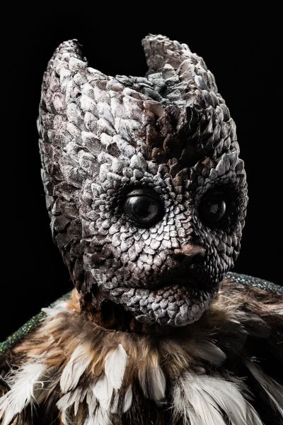 Sasha's bobcat/tawne owl hybrid. Photo credit: Brett-Patrick Jenkins from Face Off S7E5: Animal Attraction