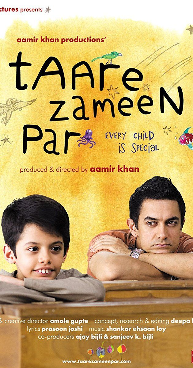 Directed by Aamir Khan, Amole Gupte.  With Darsheel Safary, Aamir Khan, Tanay Chheda, Sachet Engineer. An eight-year-old boy is thought to be a lazy trouble-maker, until the new art teacher has the patience and compassion to discover the real problem behind his struggles in school.