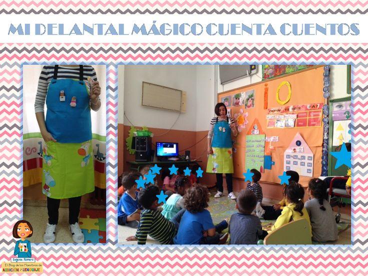 Delantal mágico para contar cuentos con marionetas de dedos.  http://blogdelosmaestrosdeaudicionylenguaje.blogspot.com.es/2014/05/mi-delantal-magico-para-contar-cuentos.html