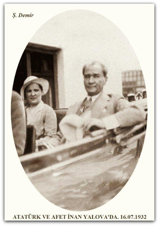 Atatürk ve Afet İnan Yalova'da. 16.07.1932
