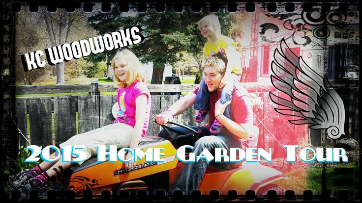 KCWW Home and Garden Tour 2015 I show you some items around the garden that I have built to spruce it up real nice! Maybe you might get some ideas of your own! #garden #homeandgarden #woodworking #tour