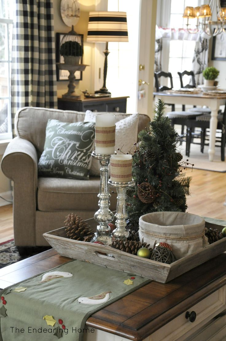 Cozy Family Room Ideas Part - 43: A Cozy Family Room For Christmas, Christmas Decorations, Seasonal Holiday  Decor