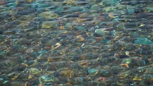 Colorful Pebbles Inside The Sea Stock Video Footage - VideoBlocks