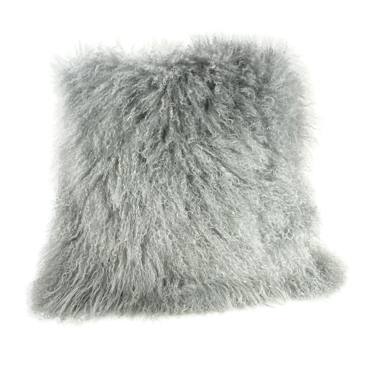 Pur Modern Tanner Curly Lamb Oversized Pillow | Wayfair