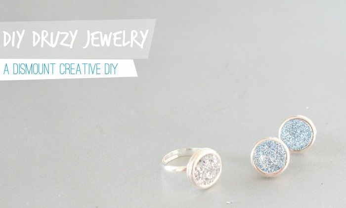 DIY Sparkling JewelryDiy Crafts, Sparkle Jewelry, Diy Jewelry, Crafts Jewelry, Diy Glitter, Druzy Jewelry, Diy Rings, Diy Druzy, Diy Earrings