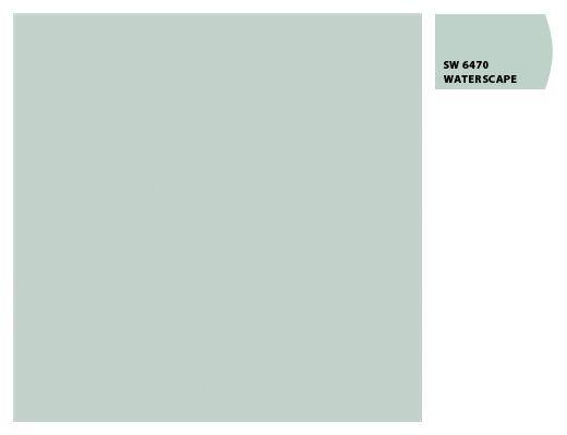 BENJAMIN MOORE'S PALLADIUM BLUE = SHERWIN WILLIAMS WATERSCAPE (SW6470)