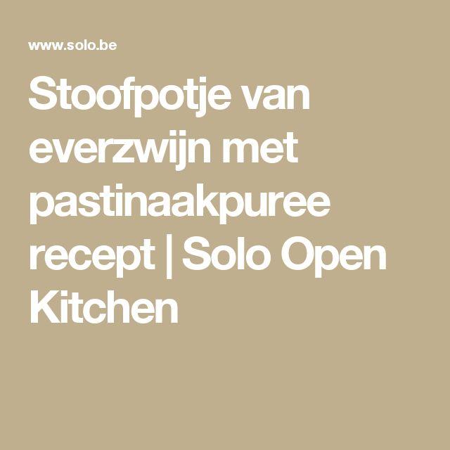 Stoofpotje van everzwijn met pastinaakpuree recept | Solo Open Kitchen